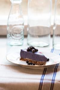 Blåbär och vaniljtårta